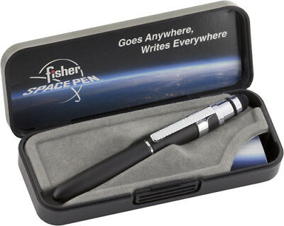 Fisher Pens BG4CLS Bullet Grip Space Pen with Clip & Conductive Stylus Black
