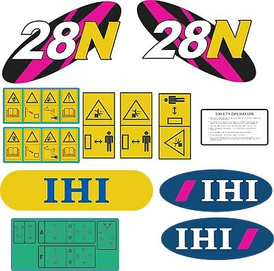 IHI 28N Decal Kit. The most complete aftermarket kit available