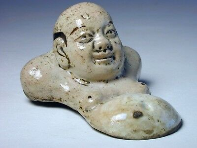 Fine Chinese Antique Cizhou Porcelain Buddha Brush Rest Song Yuan to Early Ming