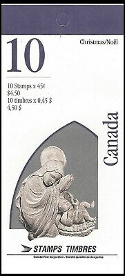 1995-Christmas-Capital Sculptures  - SC#1585a  Stamps - Booklet of 10  Mint-NH