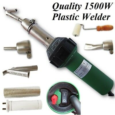 1500W Hot Air Plastic Welder Welding Gun+3 Nozzles(Flat/Tubular/Speed)+Sp Heater