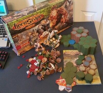 Heroscape The Battle Of All Time Huge Lot of Figures Pieces Dice and Terrain
