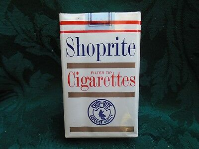 1966 Vintage Old Pack of Shoprite Superior Quality Cigarettes  No Warning Nice!