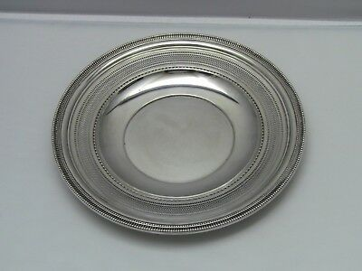 "Reed & Barton Sterling Silver x495 Reticulated Plate 9 1/2"" / No Monogram"