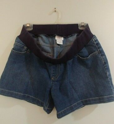 Oh Baby by Motherhood Maternity Denim Jean Shorts -Size med