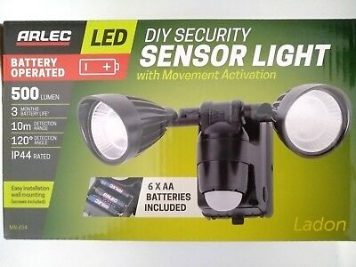 DIY Battery Powered Security Motion Sensor Light  Wall / Path Light 500 Lumen