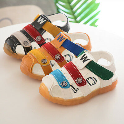 Cute Baby Boys Sandals Summer Infant Shoes Soft Anti-slip Sole Size 5.5-11.5