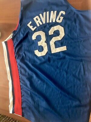 346427b48 Authentic Julius Erving Dr J Mitchell   Ness NY Nets Jersey Size 52 2XL  Sixers
