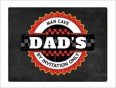 Dad's Man Cave Sign Wall Plaque Make Ideal Birthday Fathers Day Gift
