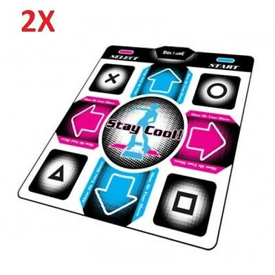 2X PS2 Wired Dance Pad for Sony Playstaion 2 DDR Dance Dance Revolution Games