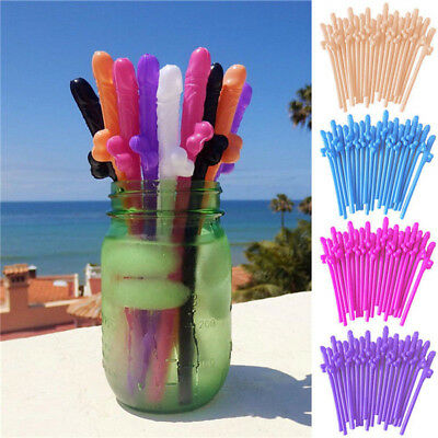 10pcs Hens Night Bachelorette Adult Party Willy Plastic Dicky Sipping Straws