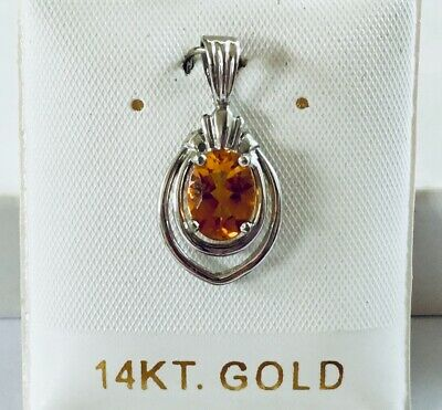 14K Solid White Gold Cultured Pearl charm , Pendant