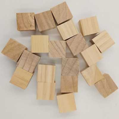 10mm-50mm Natural Wooden Blocks Mini Cubes Embellishment for Woodwork Craft