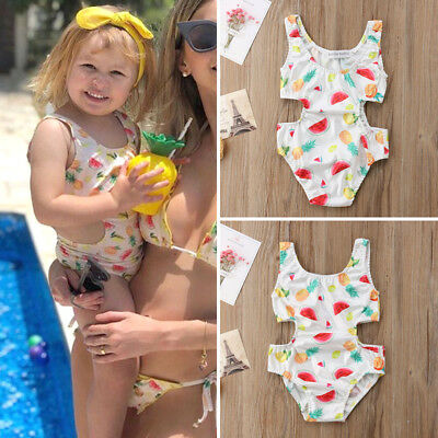 Kids Baby Girl Summer Swimsuit Swimwear One-piece Bikini Bathing Suit Beachwear