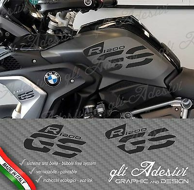 Set Stickers Side Tank Motorrad BMW R 1200 gs LC Executive 2017 BLACK