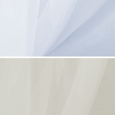 Plain Voile Fabric Sheer Polyester 150cm Wide or 300cm Wide