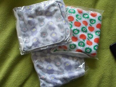 Cheeky Wipes - 15 Bamboo Minky patterned wipes baby, children face, family wipes