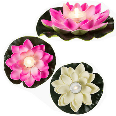 4 X Floating Led Water Lily Party Decoration Lamp Swimming Gift Waterproof New