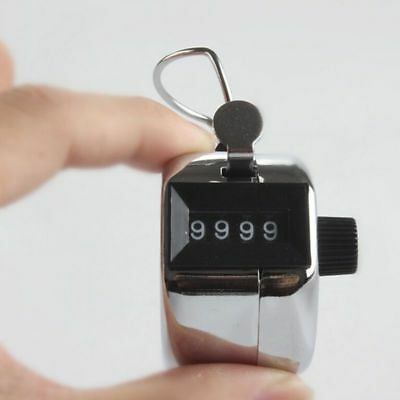 UK 4 Digit Counting Manual Hand Tally Number Counter Mechanical Click Clicker