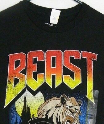 DISNEY BEAST Short Sleeve 100% Cotton Black Youth T-Shirt NWT ! Size S
