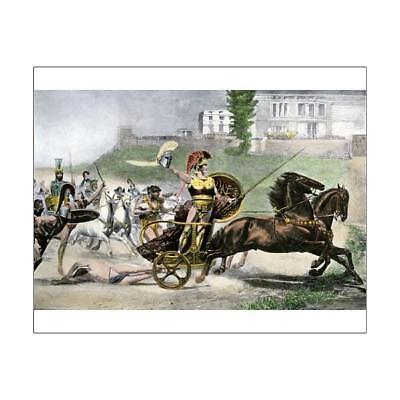 """10""""x8"""" (25x20cm) Print Death of Hector by Achilles during the Tro..."""