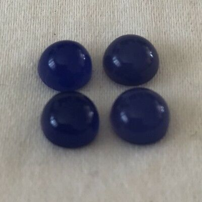 1 Blue Chalcedony Cabochon 6mm