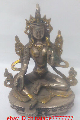 The collection!Old Chinese antiques dynasty bronze figure of Buddha