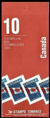 1990-Canada - Flag over building  - SC#1361a  Stamps - Booklet of 10  Mint-NH