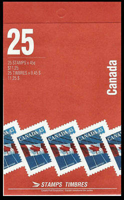 1990-Canada - Flag over building  - SC#1361b  Stamps - Booklet of 25  Mint-NH