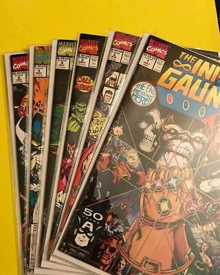 INFINITY GAUNTLET 1-6 set THANOS AVENGERS STARLIN INFINITY WAR FREE SHIPPING