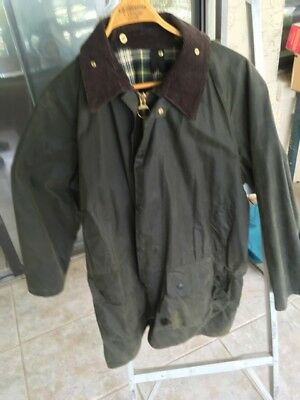 Man's Barbour Gamefair Canvas Jacket with Hood, size 44