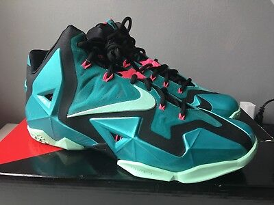 quality design 745fd 8db08 2014 DS NIKE LEBRON XI 11 SOUTH BEACH MIAMI TURQUOISE Size 8.5 616175-330