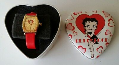 """ BRAND NEW VINTAGE "" -  Rare Betty Boop Watch in Original Tin Container 2002"