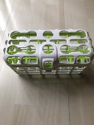 Munchkin Dishwasher Basket Lime & White for Baby Items such as Bottles, Nipples