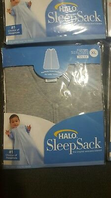 Halo SleepSack 100% Cotton Wearable Blanket Heather Gray X-Large