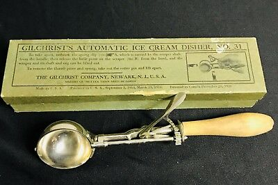Vintage NOS Gilchrists Automatic Ice Cream Disher No. 31 Size 16