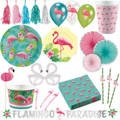 Flamingo Sommer Party Dekoration Set Deko Kindergeburtstag Geburtstag Hawaii