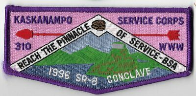OA Lodge #310 Kaskanampo Tennessee Valley Council S-17 flap; 1996 SR-8 Conclave