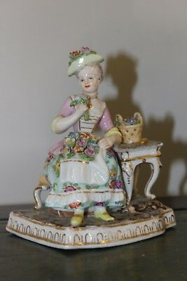 Dresden - lady sits at table