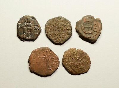 AE Tetarteron - LOT OF 5 - ANCIENT BYZANTINE COINS
