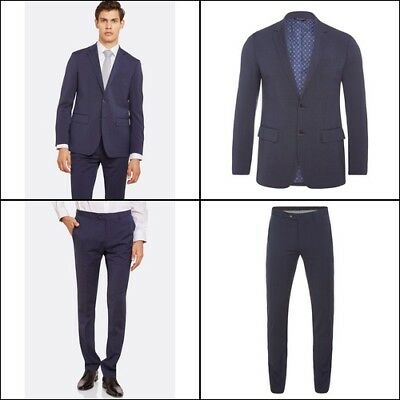 Auden Wool Stretch Suit Jacket P With Matching Trousers Mens Suits