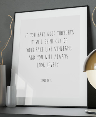 Roald Dahl Love Inspirational Quote Poster Art Print A3 A4 A5 A6 Decor Gift Love