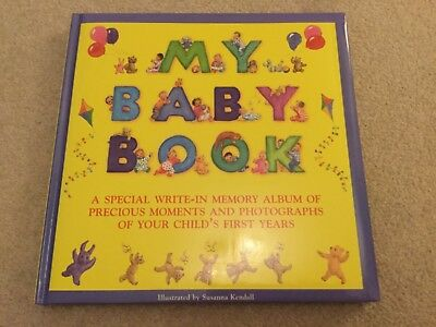 My Baby Book A Special Write in Memory Album by Susanna Kendall NEW