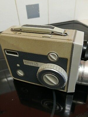Eumig C5 Cine Camera Vintage With Leather Carry Case Untested