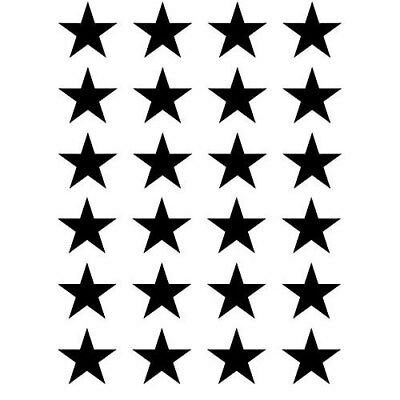 """24x 1.5"""" Small Stars Vinyl Decal Stickers for Home Window wall DIY wallpaper art"""