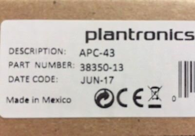 Plantronics APC-43 Electronic Hookswitch Cable 38350-13