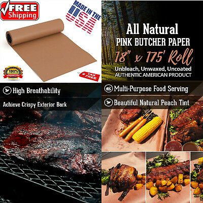 Pink Butcher Paper Roll Beef Brisket Barbecue BBQ Grilling Meat Smoking Wrap