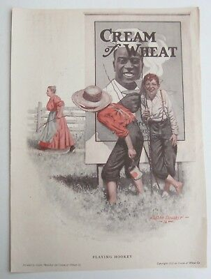 1913 Cream of Wheat Ad PLAYING HOOKEY Art by Leslie Thresher