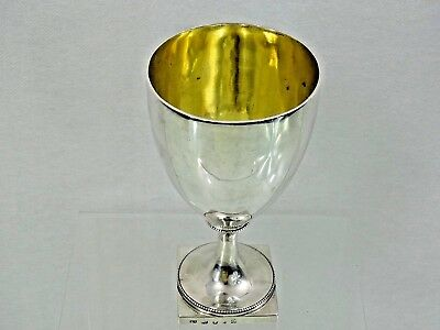 STUNNING ANTIQUE ENGLISH STERLING SILVER GOBLET CUP LONDON 1785 John Robins