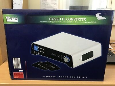 Tevion Sound Cassette Converter, Brand New In Box, Back Up Tapes To Mp3